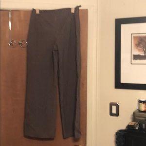Talbots brown pin striped pants